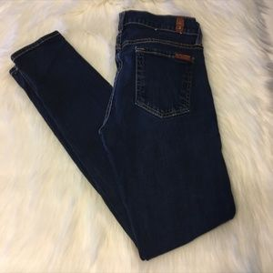 """7 for all Mankind """"the skinny"""" jeans Size 25"""